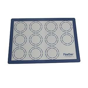 finether tapis macarons tapis de cuisson en silicone et fibre de verre antiadh sif pour. Black Bedroom Furniture Sets. Home Design Ideas
