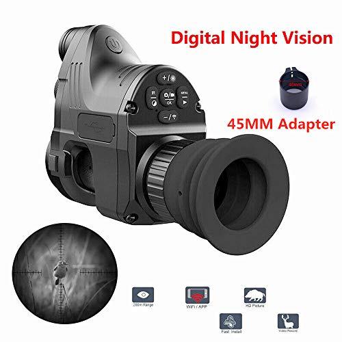 PARD NV007 Reichweite 200m 1080P HD Digitalkamera Wasserdicht Antifogging Jagd Nachtsichtgerät Wifi Optische IR Infrarot 4X-14X Zoom Zielfernrohr NV007 Night Vision Google + 45MM Pard NV007 Adapter