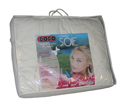 Dodo 26263200 Soie 4 Saisons Couette Percale Satinée/Coton Blanc 200 x 200 cm