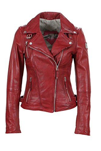 Freaky Nation Biker Princess Chaqueta, Rojo (Apple Red), 36 (XS) para Mujer