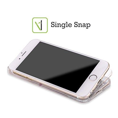 Head Case Designs And Kisses Piper Der Mops Silber Handyhülle mit flussigem Glitter für Apple iPhone 6 / 6s Not Drugs