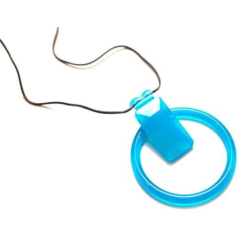 Dr. Bloom BNR 05391 Combo, bracciale e collana, rettangolare con scivolo, colore: blu topazio