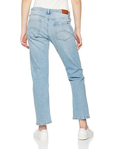 Tommy Jeans Damen Jeanshose Straight Cropped Lana Frlbl Blau (Fresh Light Blue Destructed 911)