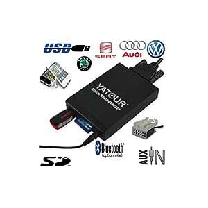 Adaptateur Interface Autoradio iPod Auxiliaire (Bluetooth) Seat Altea, Altea XL, Leon, Toledo, Exeo & Ibiza (12pin) - CPA-M06 - USB carte SD Auxiliaire (0,00 €), sans option bluetooth 0€