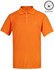 Lesmart Performance Polo de Golf Homme Dry Fit Sport Solide Polyester