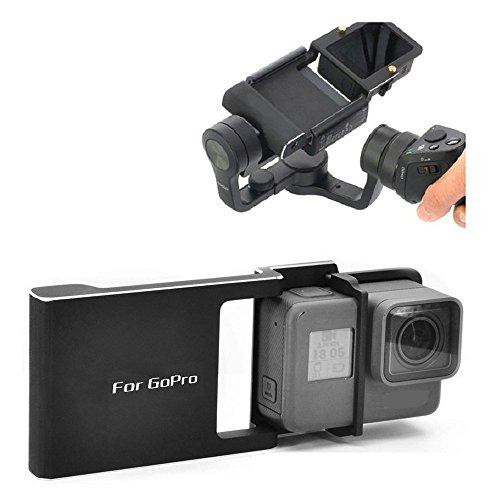 Flycoo für GoPro Hero 5 4 3 3 + Adapter Mount Switch Plate Board Zubehör Aluminium Legierung für DJI Osmo Mobile Gimbal PDA Halterung Anschluss