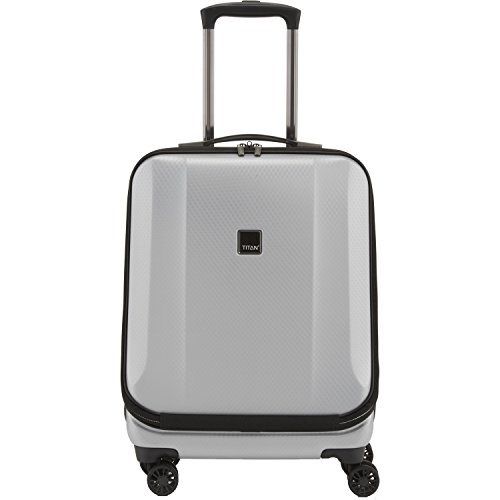 "TITAN Valise trolley business ""Xenon Deluxe"" marron Koffer, 55 cm, 40 liters, Braun (Marron) Silber (Argenté)"