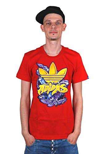 adidas Originals - T-shirt de sport - Homme - Rouge - X-Large