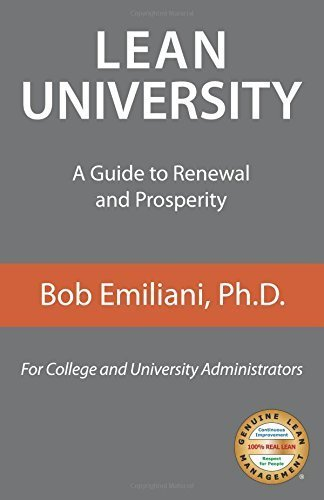Lean University: A Guide to Renewal and Prosperity by Bob Emiliani (2015-06-03)