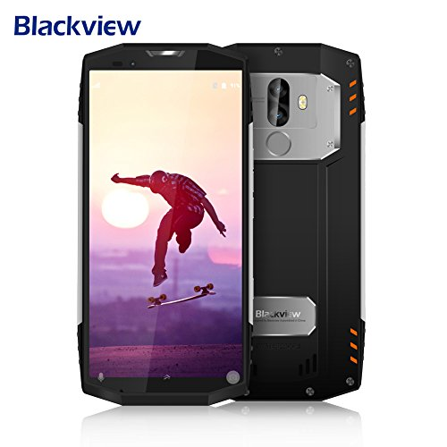 Outdoor Handy, Blackview BV9000Pro Rugged Smartphone Outdoor 18: 9 Vollbild , IP68 Smartphone 6GB RAM + 128GB ROM mit 8MP + 13MP + 5MP Dual SONY Kameras, Android 7.1 Handy mit 4180mAh Big Akku,12V 2A Schnellladung,NFC,Gesicht ID,GPS-Silber