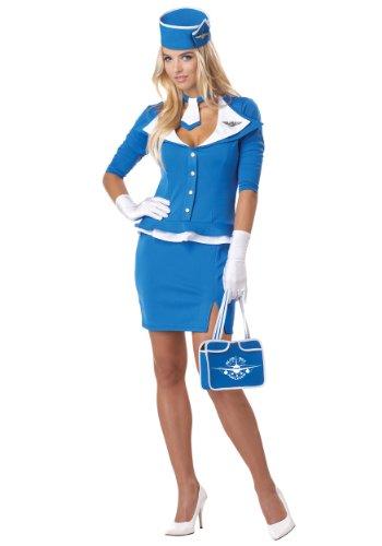 California Costumes Damen-Kostüm Retro Stewardess, (Stewardess Retro Kostüme)