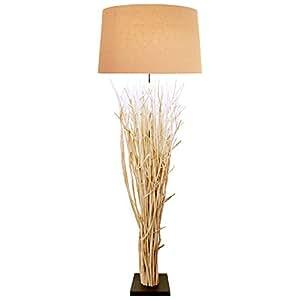 design steh lampe mit grobem schirm aus leinen 150x50 cm. Black Bedroom Furniture Sets. Home Design Ideas