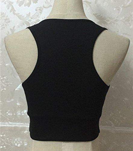Yiiquan Soutien-gorge de Sport Engrener Push up Devant Bra Fitness Yoga Bon Noir #2