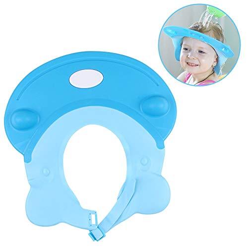 Faneli Baby Kinder Shampoo Kappe Baden Dusche Schutz, Einstellbar Shampooaugenschutz Shampoo Schutzschild Hippo Bade Spritzschutz Dusche Schützen Bademütze für Baby Kinder (Blau)