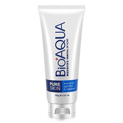 BIOAOUA Huile-contrôle facial nettoyant acné les points noirs traitement Deep nettoyage