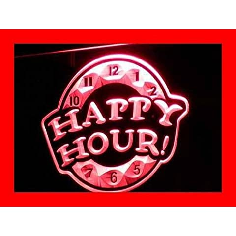 Cartel Luminoso ADV PRO i257-r HAPPY HOUR Beer Bar Pub Club NEW Neon Light Sign
