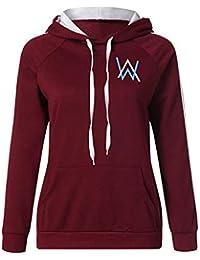 1d1c7a043a32e Alan Walker Femme Sweats à Capuche Décontractée Sweat-Shirts Imprime  Pullover Populaire Haut ...