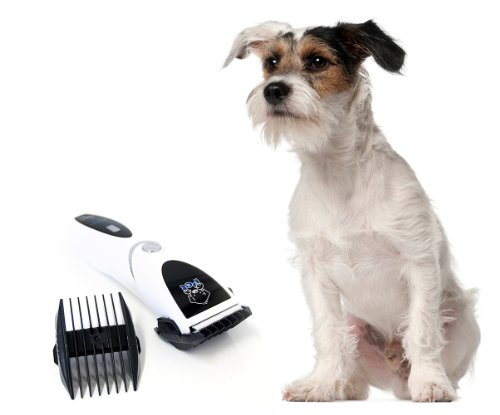 Akku Tierhaarschneider Haarschneide Maschine Tierhaarschneidemaschine Haarschneidemaschine Schermaschine Haustiere Elektrische Haarschneidemaschine in weiß für Hunde von der Marke PRECORN - 2