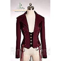 Giacca Cavaliere stile corsetto elegante gotico aristocratico Rosso