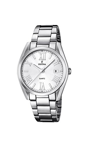 Festina Women's Quartz Watch with Silver Dial Analogue Display and Silver Stainless Steel Bracelet F16790/1