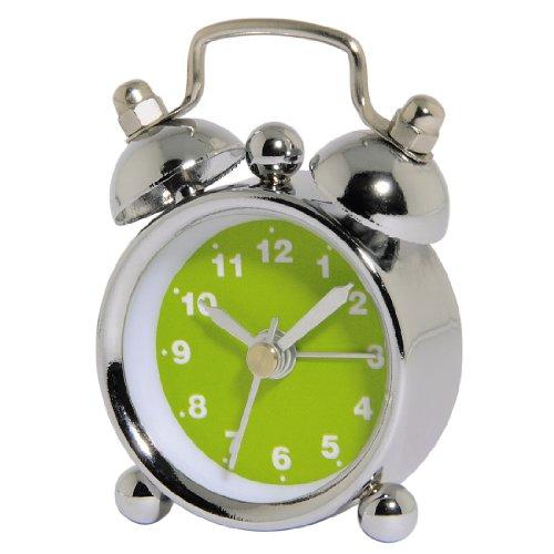 Hama analoger Wecker Nostalgie (mini Glockenwecker mit lautem Alarm) grün