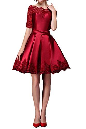 Promgirl House - Robe - Trapèze - Femme Rouge - Rouge foncé
