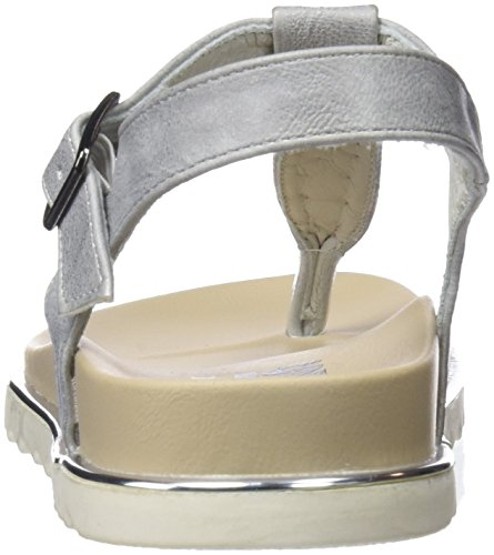 Refresh 64303, Sandales Bout Ouvert Femme Argent (Silver)