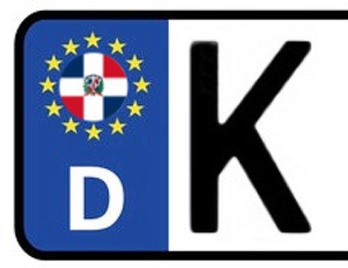 2x Kennzeichen Aufkleber DOMINIKANISCHE REPUBLIK Nummernschild Sticker (ca.2 cm) -