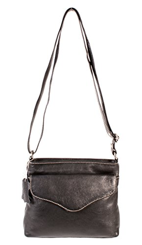 Oxbridge Satchel Shop , Sac pour femme à porter à l'épaule noir petit