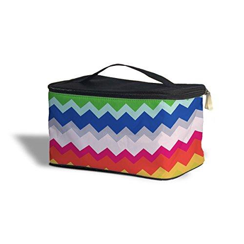 Multicolor Chevron Rainbow étui de rangement de Cosmétique – Maquillage à fermeture Éclair Sac de voyage, Polyester, multicoloured, One Size Cosmetics Storage Case