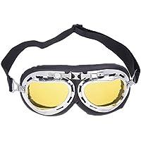 SODIAL(R)Lunettes Moto Cross Goggle Eyewear Glasses Lentilles Jaunes Protection
