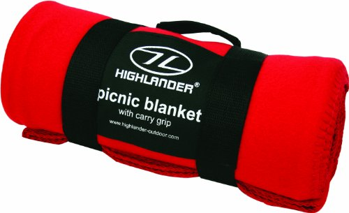Highlander Fleece Blanket - Manta, Color Rojo