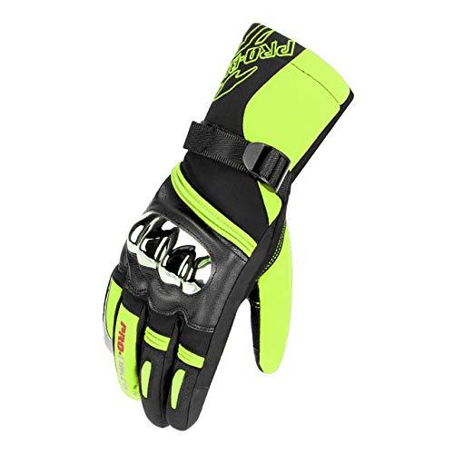 MYSdd Guanti da moto per uomo guanti da moto invernali impermeabili e antivento al 100% touch screenMTV-10 GreenXXL