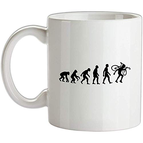 Tazza da caffè Evolution Of Man Cyclo-cross - 11,6 once (330 ml) tazza da caffè in ceramica per donna, uomo, casa, compleanno, Natale, Hoilday -