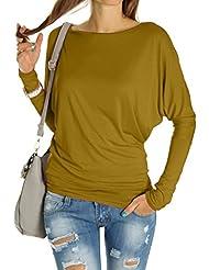 Bestyledberlin Damen Shirt, Blusen, Fledermaus Shirt, Top t67p