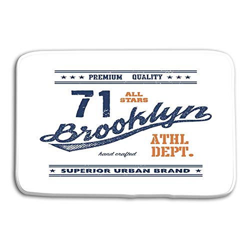 dfegyfr Print Washable Fabric Placemats for Dining Room Kitchen Table Decoration 23.6x15.7 inch Vintage Brooklyn Typography Cocker Spaniel Baseball