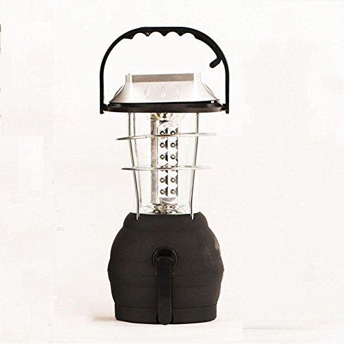 YAYONG LED-Solarlicht, Solarladegerät, Handkurbelladung Multifunktions-wiederaufladbare Solar-Campinglicht Außenbeleuchtung Taschenlampe Portable,Black