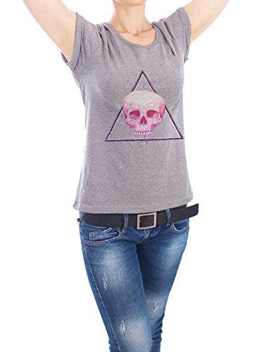 ... Menschen Streetart von Valeriya Korenkova Grau. Design T-Shirt Frauen  Earth Positive