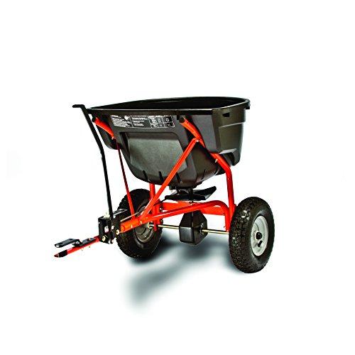 Agri-Fab AG45-0463 130lb Towed Broadcast Smart Spreader – Black/Orange