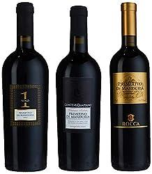 Weingenuss Primitivo di Manduria DOC Probierpaket (3 x 0.75 l)