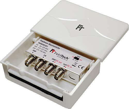 FeinTech TMW00301 Triplexer 3-fach Mastweiche 3 Eingänge UKW VHF UHF Combiner Vhf-uhf-outdoor Hdtv