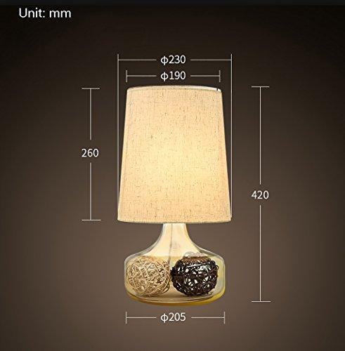 Tabellenlampe Europäischen Stil Nachttischlampen Lampen Schlafzimmer Nachttischlampe Schatten Tisch Tischlampe (Größe: 205 * 420mm) Desktop Tischlampe (Farbe : C) -