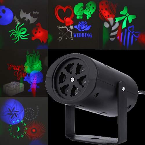 Projektor-Lampen, LED-Lampen, Herzform, Schnee, Spinnen, Schleife, Fledermaus für Halloween, Weihnachten, Hochzeiten, Familienfeiern