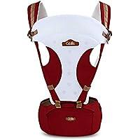 GBlife Marsupio Neonato Ergonomico Regolabile per Baby Carrier confortevole e Respirante Fascia Portibile Multifuzionale 110cm della Lunghezza della Cintura con Seggiolino da Anca