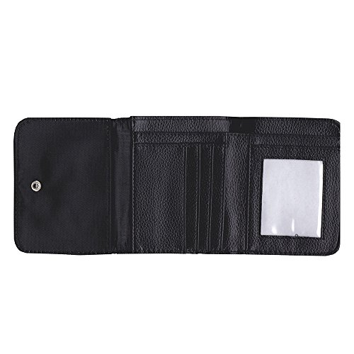 Image of Small Faux Leather Wallet with card slot // M00154906 Birch Bark Texture Light Plen?¡¥nka // Small Size Wallet