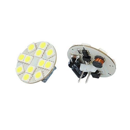 10X G4 2,5W 160 lm lampe led 6000K Blanc froid 12 LEDs SMD 5050 12V/24V Douille à broches remplacé 20W AMPOULE source d'éclaraige Spot encastré