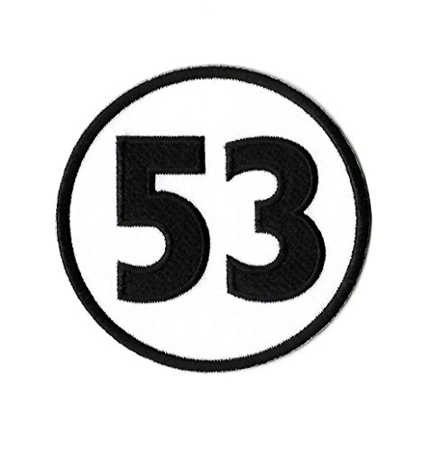 MemelBurg Herbie die Liebe Bug Patch 53 bestickt Eisen oder annähen Abzeichen Applique Souvenir Retro DIY Kostüm
