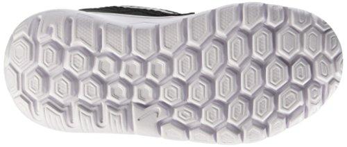 Nike - Flex Experience 4 (TDV) - Chaussures Du Nouveau-Né, bébé-fille noir / Plateado / Rosa (Black / Metallic Silver-Pink Pow)