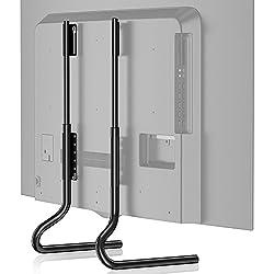 FITUEYES Support Télé Pied sur Table avec Hauteur Adjustable pour TV de 27 à 60 Pouces Ecran Plasma LCD LED Plate TT07201MB