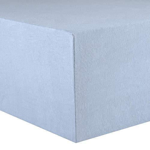 CelinaTex Lucina Spannbettlaken 180x200 - 200x200 aqua blau Jersey Baumwolle Spannbetttuch Doppelbett Matratzen 0002806